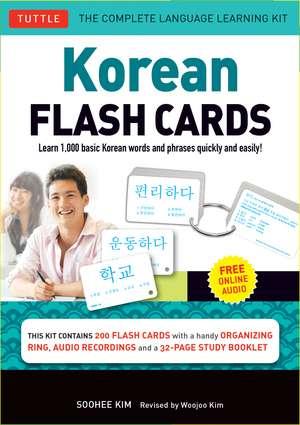 Korean Flash Cards Kit imagine