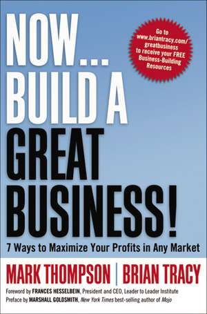 Now, Build a Great Business!: 7 Ways to Maximize Your Profits in Any Market de Mark Thompson
