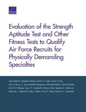 EVALUATION OF THE STRENGTH APTPB de Sean Robson