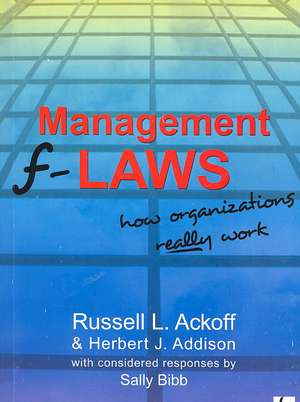 Management F-laws de Russell L. Ackoff