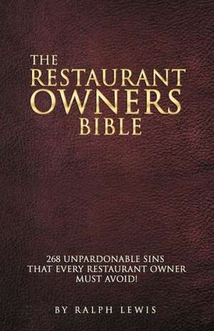 The Restaurant Owners Bible