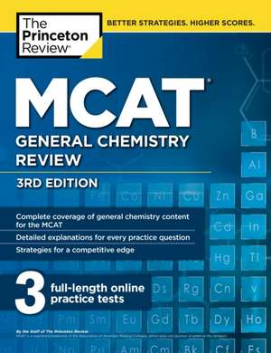 MCAT General Chemistry Review, 3rd Edition