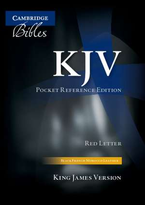 KJV Pocket Reference Edition KJ243:XRI: Black French Morocco Leather, with Thumb Index