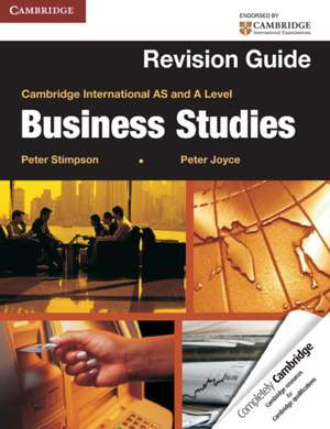 Cambridge International AS and A Level Business Studies Revision Guide imagine
