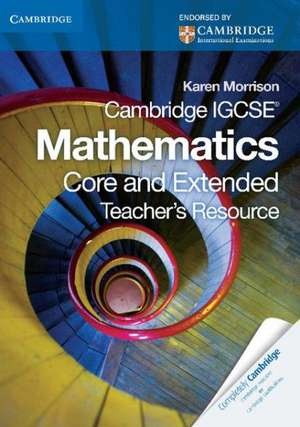 Cambridge IGCSE Mathematics Teacher's Resource CD-ROM