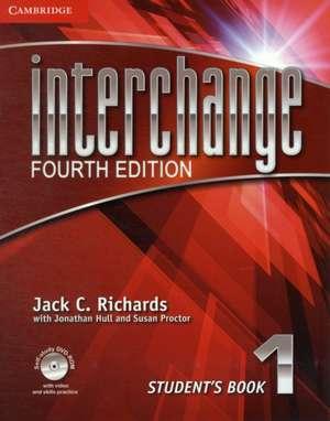 Interchange Level 1 Student's Book with Self-study DVD-ROM de Jack C. Richards