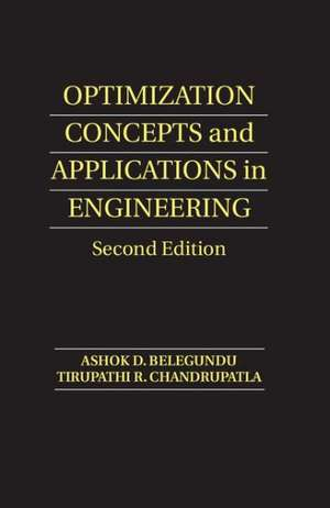 Optimization Concepts and Applications in Engineering de Ashok D. Belegundu