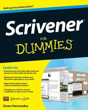 Scrivener For Dummies de Gwen Hernandez