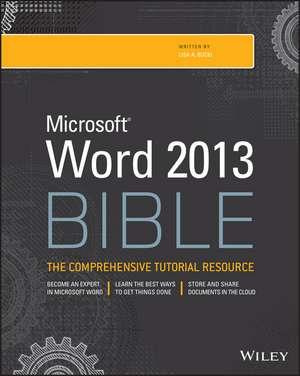 Word 2013 Bible de Lisa A. Bucki