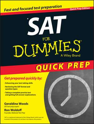 SAT For Dummies 2015 Quick Prep de Geraldine Woods