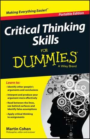 Critical Thinking Skills For Dummies imagine