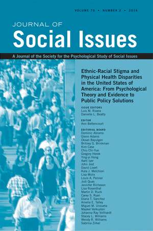 Ethnic-racial Stigma And Physical Health Disparities In The United States Of America