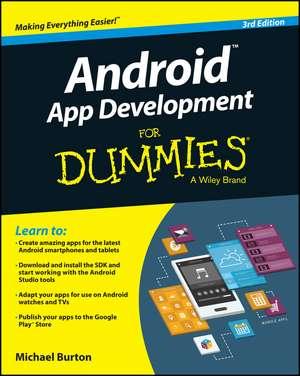 Android App Development For Dummies de Michael Burton