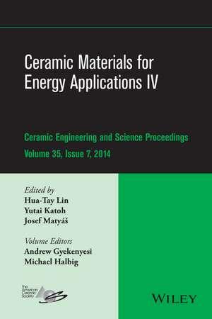 Ceramic Materials for Energy Applications IV