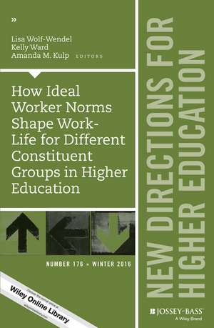 How Ideal Worker Norms Shape Work–Life for Different Constituent Groups in Higher Education