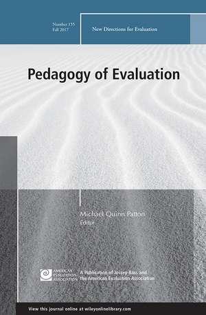 Pedagogy of Evaluation