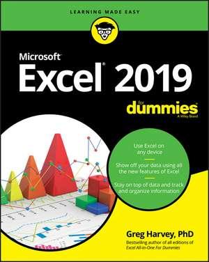 Excel 2019 For Dummies de Greg Harvey