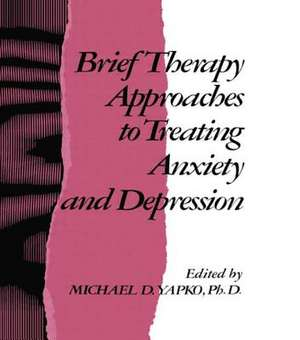 Brief Therapy Approaches to Treating Anxiety and Depression