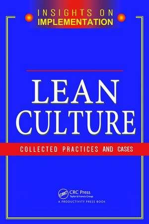 Lean Culture de Productivity Press Development Team