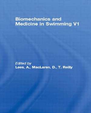 Biomechanics and Medicine in Swimming V1