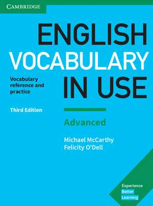 English Vocabulary in Use: Advanced Book with Answers: Vocabulary Reference and Practice de Michael McCarthy