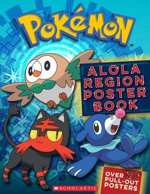 Pokemon: Alola Region Poster Book de Scholastic