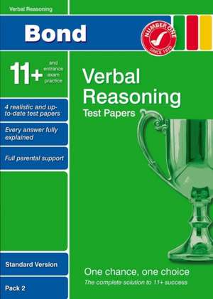 Lindsay, S: Bond 11+ Test Papers Verbal Reasoning Standard V