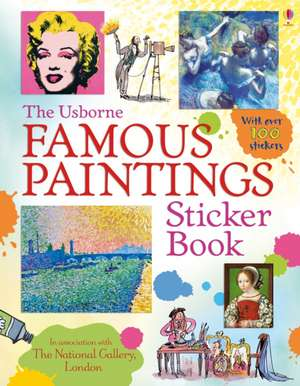 Famous Paintings Sticker Book imagine