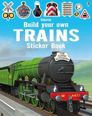 Build Your Own Trains Sticker Book de Simon Tudhope