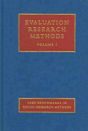 Evaluation Research Methods de Elliot Stern