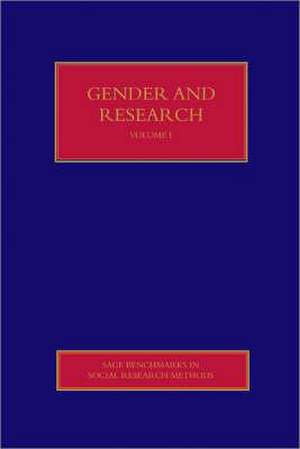 Gender and Research de Sara Delamont