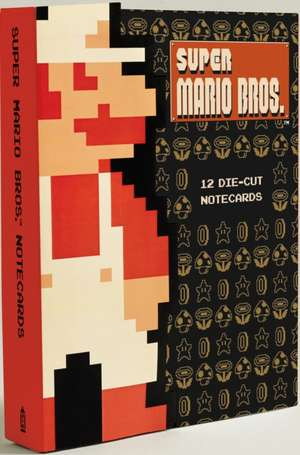 Super Mario Bros. 12 Die Cut Notecards:  100 Postcards de Nintendo