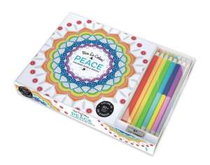 Vive le Colour! Peace (Adult Colouring Book and Pencils)
