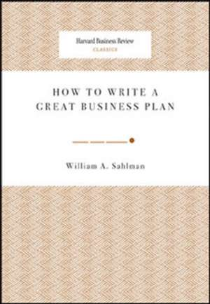 How to Write a Great Business Plan imagine