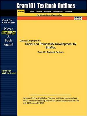 Studyguide for Social and Personality Development by Shaffer, ISBN 9780534607005 de 5th Edition Shaffer