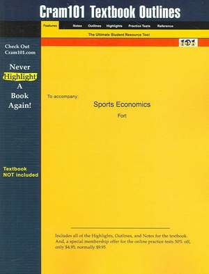 Studyguide for Sports Economics by Fort, ISBN 9780130850911 de  Fort