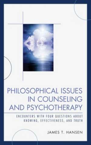 Philosophical Issues in Counseling and Psychotherapy imagine