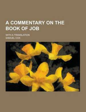 A Commentary on the Book of Job; With a Translation