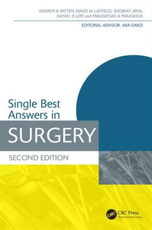Single Best Answers in Surgery, Second Edition