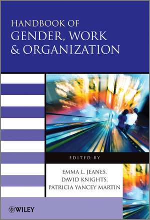 Handbook of Gender, Work and Organization de Emma Jeanes