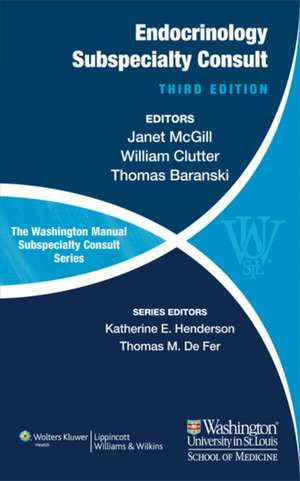 The Washington Manual of Endocrinology Subspecialty Consult