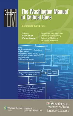 The Washington Manual of Critical Care: Washington Manual of Critical Care de Marin Kollef MD
