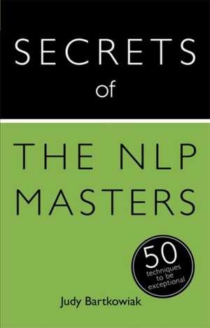 Secrets of the Nlp Masters imagine