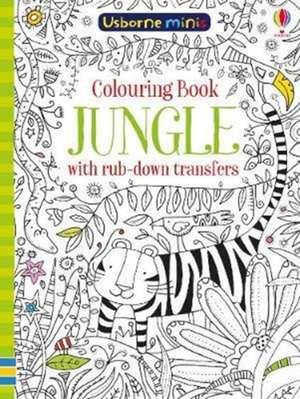 Colouring Book Jungle with Rub Down Transfers