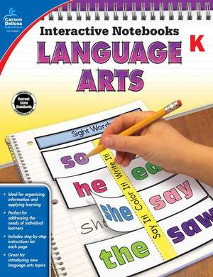 Language Arts, Grade K de Carson-Dellosa Publishing
