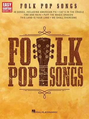 Folk Pop Songs: For Easy Guitar with Notes & Tab de  Hal Leonard Corp