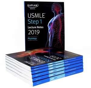 USMLE Step 1 Lecture Notes 2019: 7-Book Set (Kaplan Test Prep) imagine