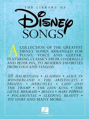 The Library Of Disney Songs (PVG) de  Hal Leonard Publishing Corporation