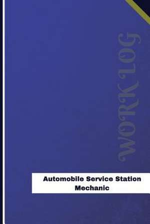 Automobile Service Station Mechanic Work Log de Logs, Orange