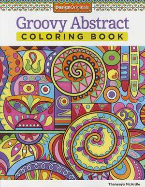 Groovy Abstract Coloring Book imagine